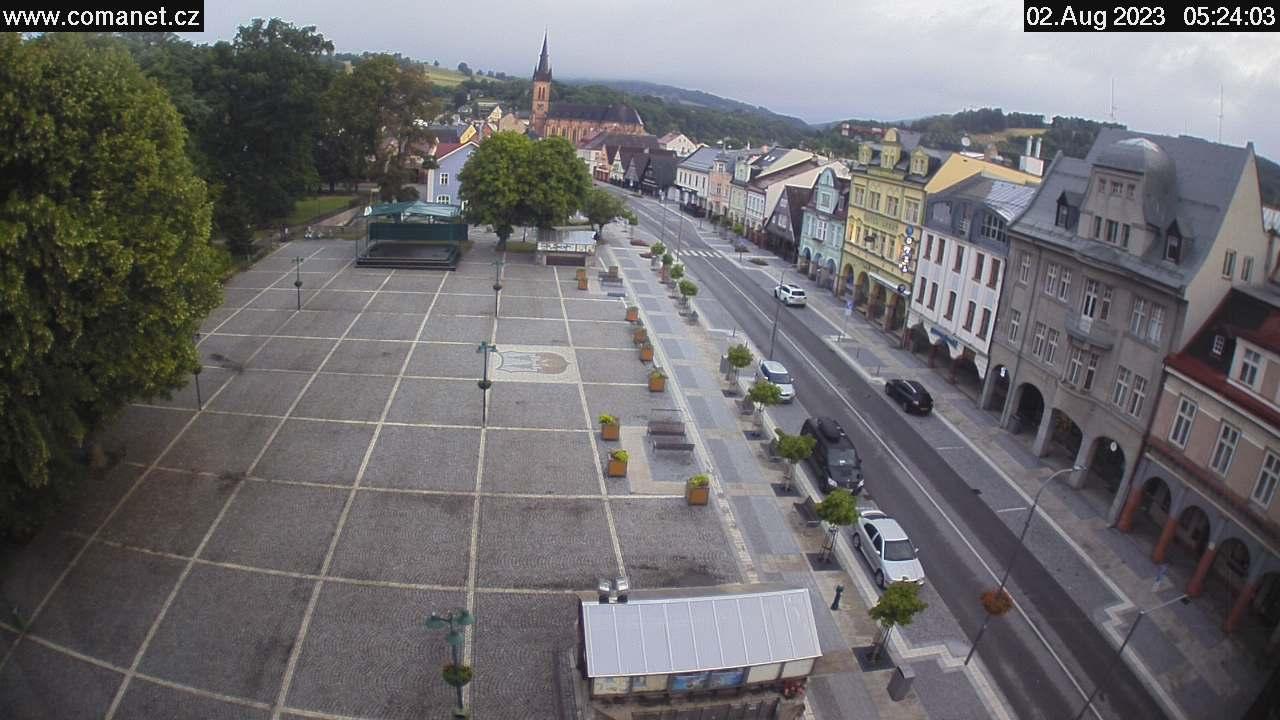 Webcam Skigebiet Vrchlabi Markt - Riesengebirge