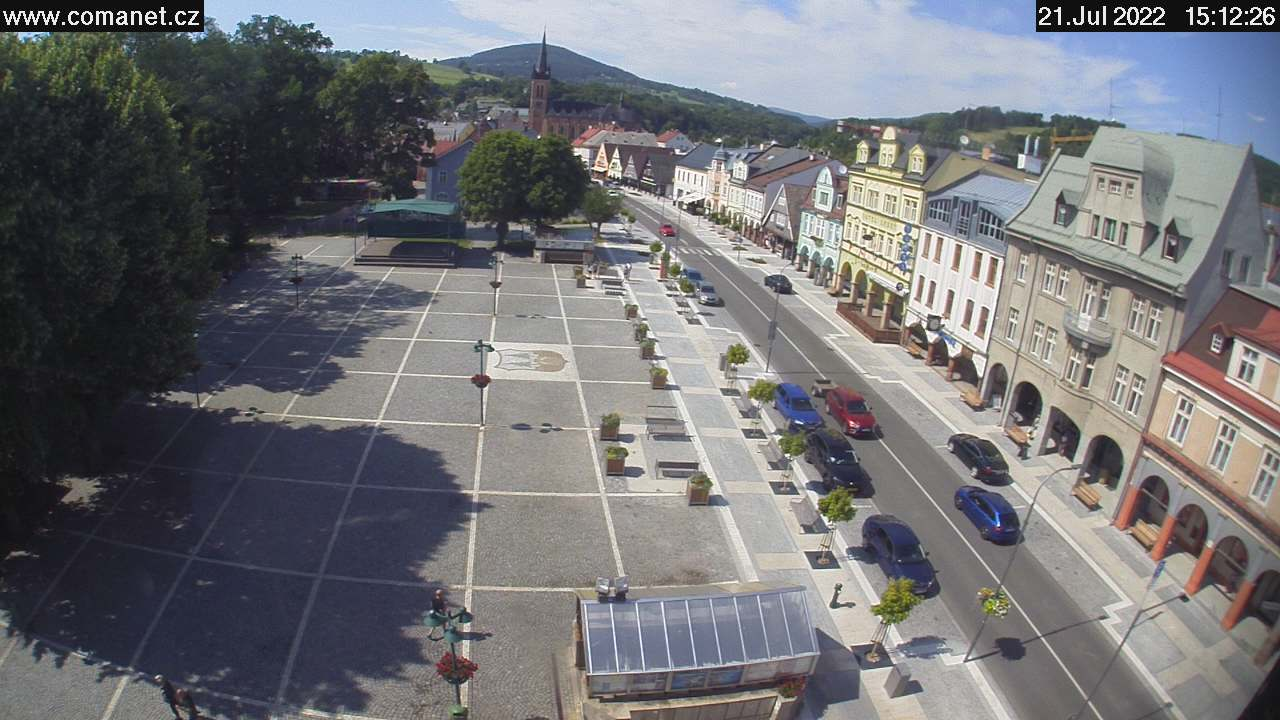 Webcam Skigebied Vrchlabi Markt - Reuzengebergte
